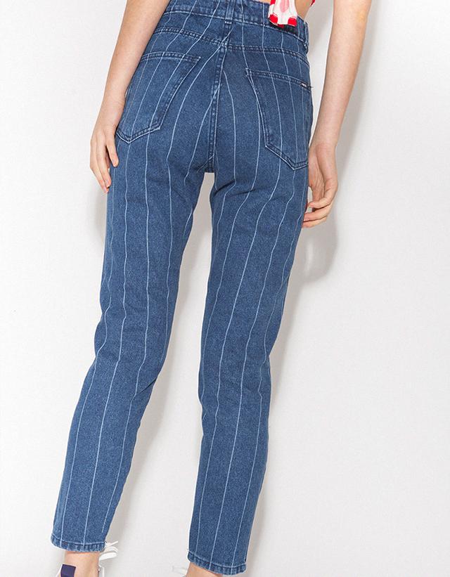 Jeans Mom rayado
