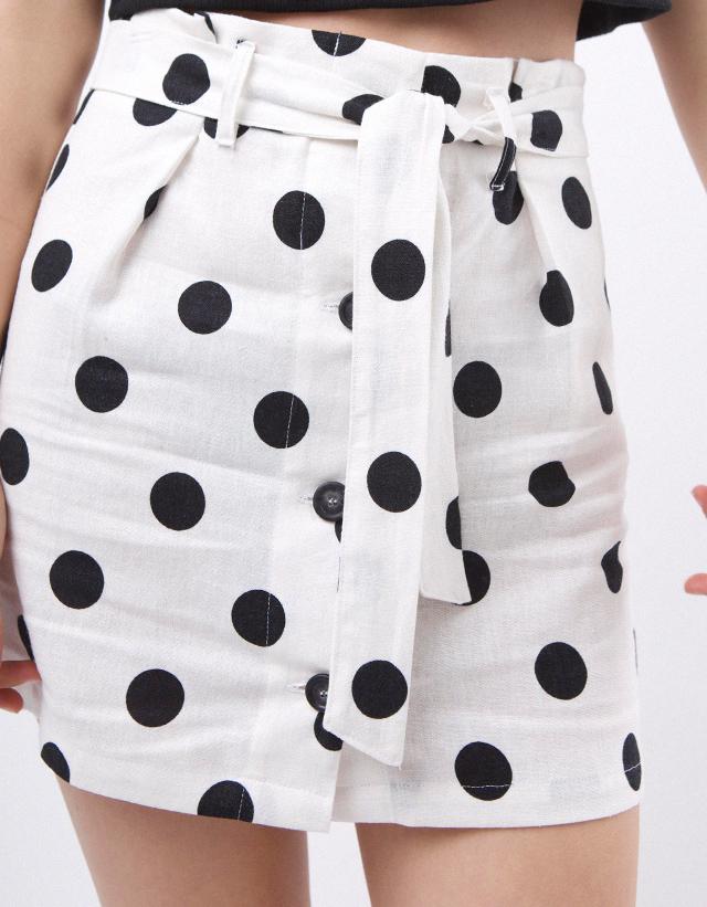 Falda lunares botones