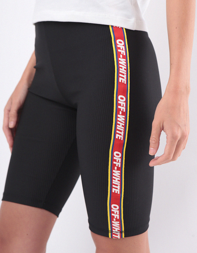 Legging biker off white