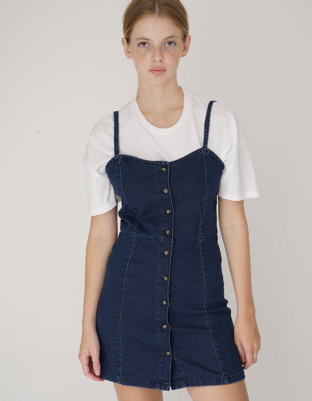 Vestido elastizado con botones