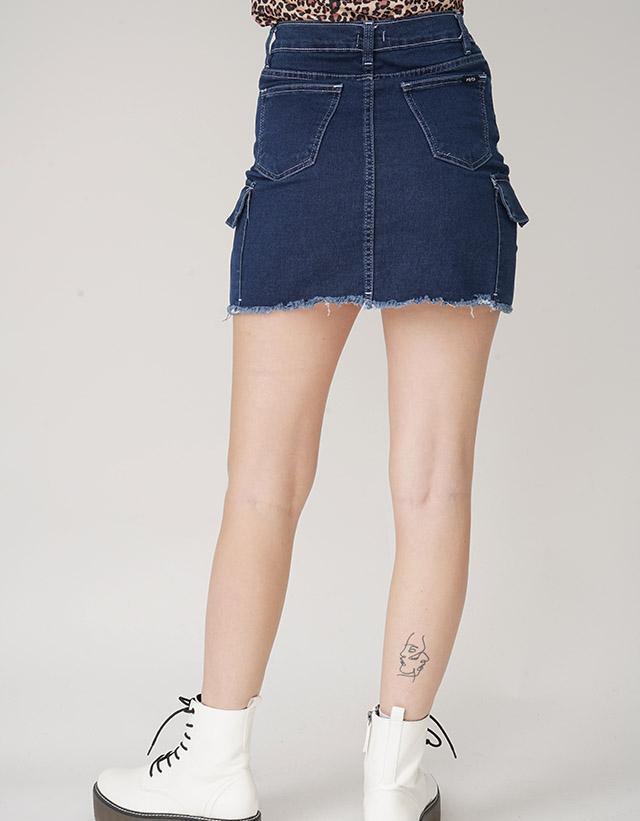 Mini elastizada bolsillos cargo