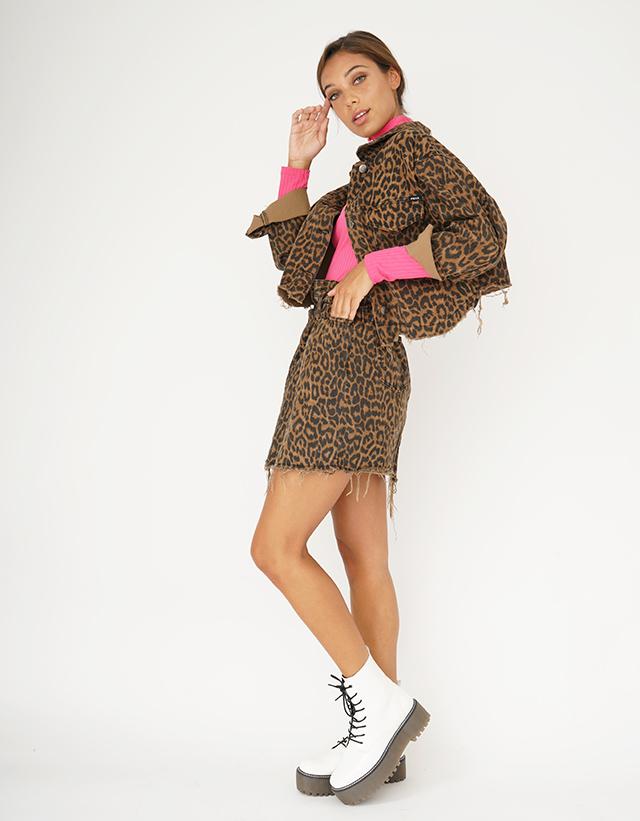 Campera irregular leopardo