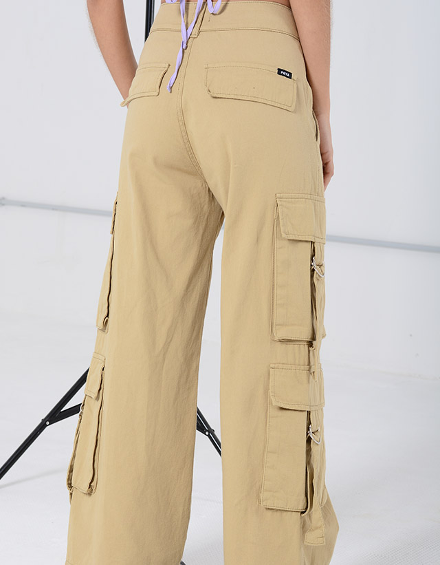 Pantalón Wide Leg Utility