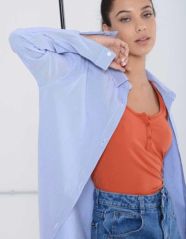Camisa Boyfriend Rayada