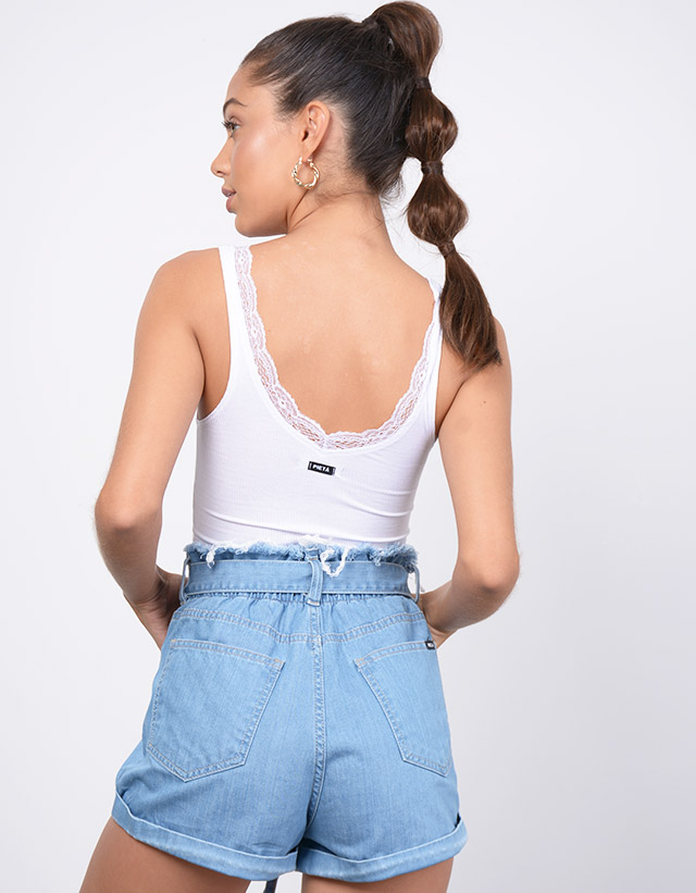 Shorts Rigido con Elastico