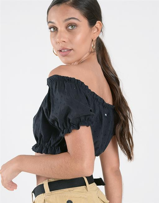 Top Broderie Off Shoulder